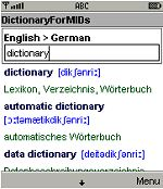 Dictionary for MIDs